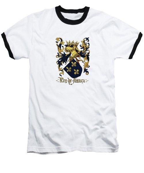 King Of France Coat Of Arms - Livro Do Armeiro-mor  Baseball T-Shirt