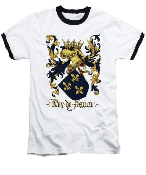King Of France Coat Of Arms - Livro Do Armeiro-mor  Baseball T-Shirt