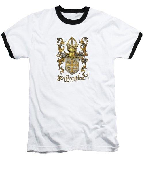 Kingdom Of Jerusalem Coat Of Arms - Livro Do Armeiro-mor Baseball T-Shirt