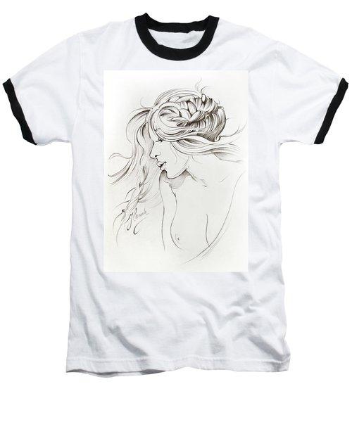 Kiss Of Wind Baseball T-Shirt by Anna Ewa Miarczynska