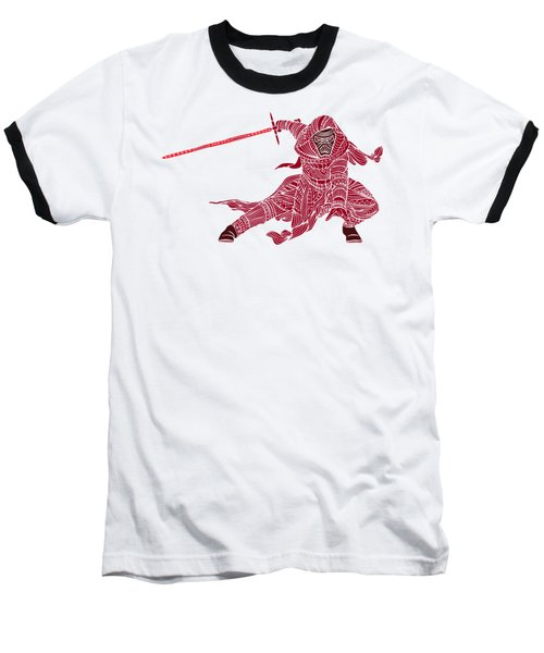 Kylo Ren - Star Wars Art - Red Baseball T-Shirt