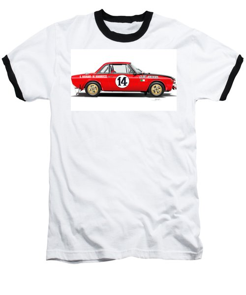 Lancia Fulvia Hf Illustration Baseball T-Shirt