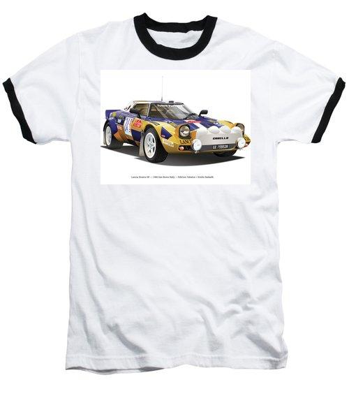 Lancia Stratos Hf Baseball T-Shirt by Alain Jamar