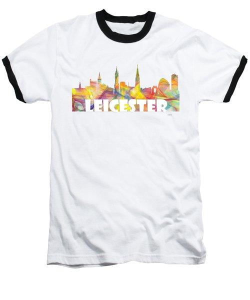 Leicester England Skyline Baseball T-Shirt