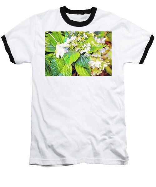 Baseball T-Shirt featuring the photograph Little Orchids by Mindy Newman