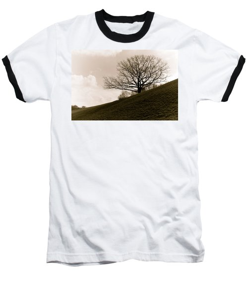 Baseball T-Shirt featuring the photograph Lonely Tree by Sergey Simanovsky