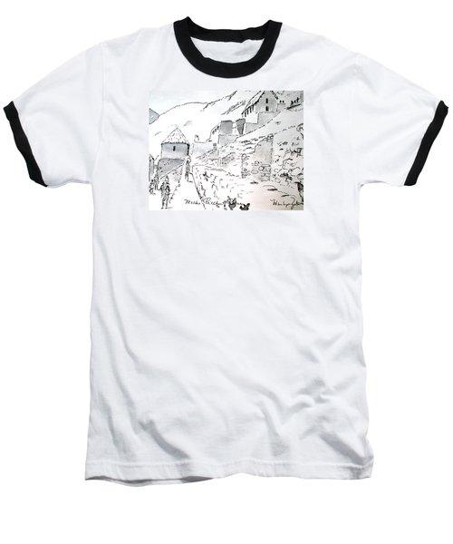 Machu Picchu Baseball T-Shirt by Marilyn Zalatan