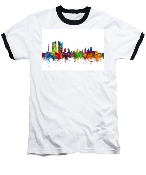 Madrid Spain Skyline Baseball T-Shirt
