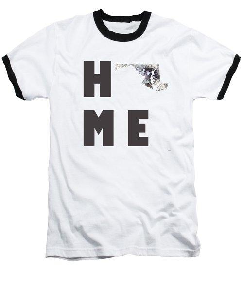 Baseball T-Shirt featuring the digital art Maryland State Map by Marlene Watson