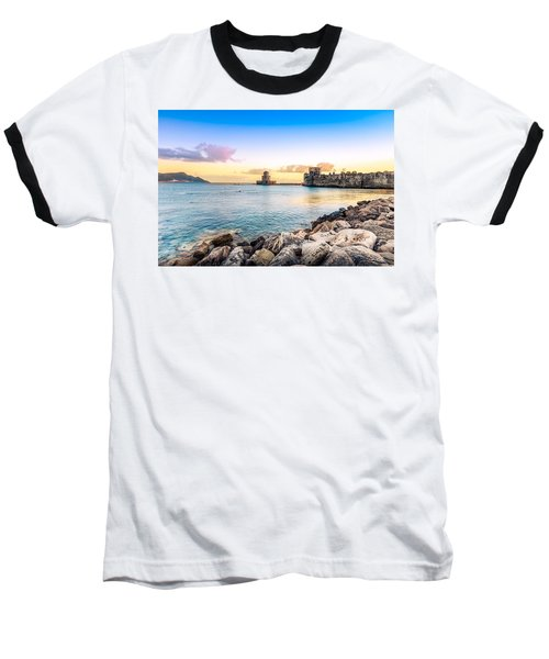 Methoni's Castle / Greece. Baseball T-Shirt by Stavros Argyropoulos