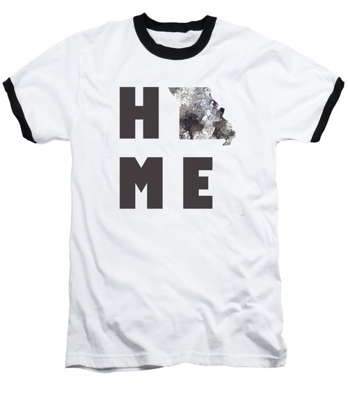 Baseball T-Shirt featuring the digital art Mississippi State Map by Marlene Watson