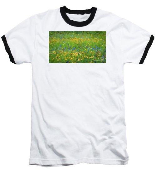 Mixed Wildflowers In Texas 538 Baseball T-Shirt