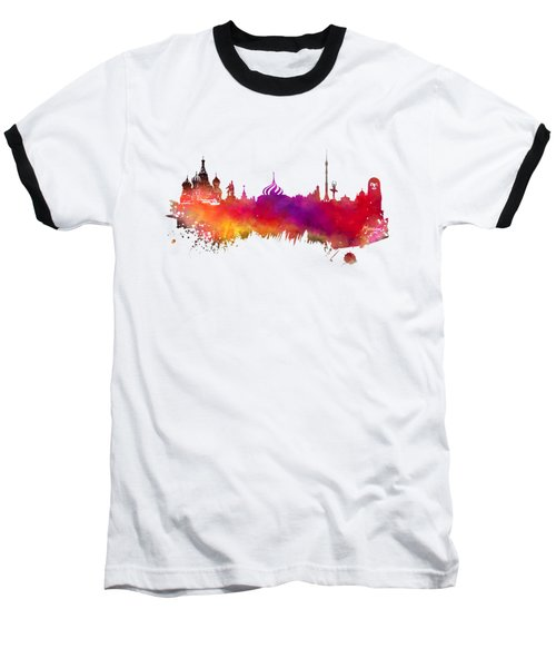 Moscow Skyline Baseball T-Shirt