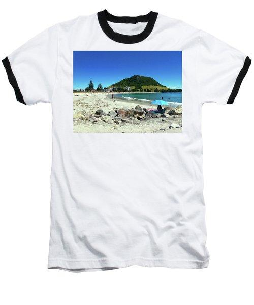 Mount Maunganui Beach 1 - Tauranga New Zealand Baseball T-Shirt by Selena Boron