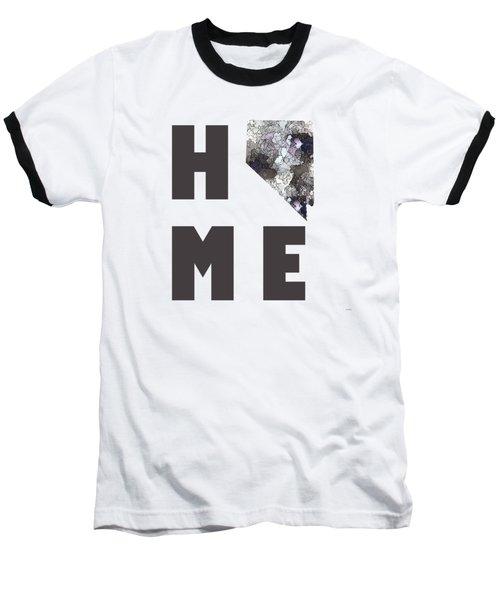Baseball T-Shirt featuring the digital art Nevada State Map by Marlene Watson