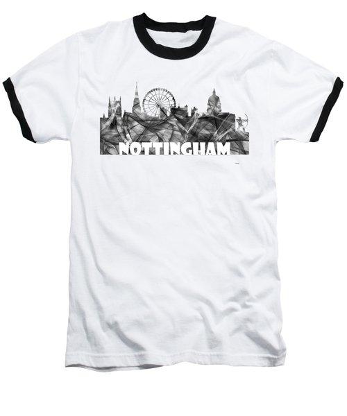 Nottingham England Skyline Baseball T-Shirt