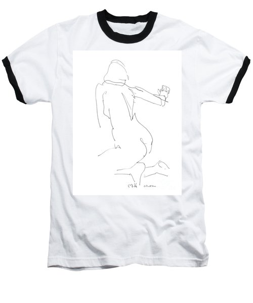 Nude Female Drawings 8 Baseball T-Shirt