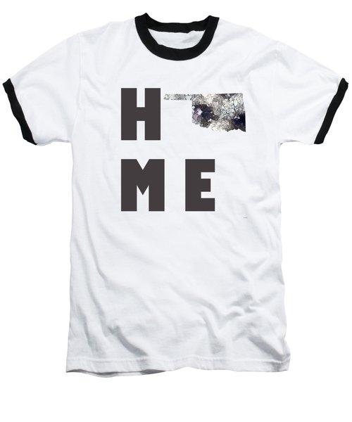 Baseball T-Shirt featuring the digital art Oklahoma State Map by Marlene Watson