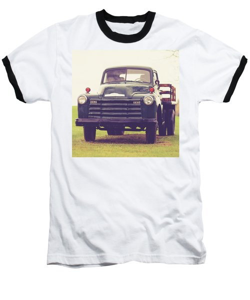 Old Chevy Farm Truck In Vermont Square Baseball T-Shirt
