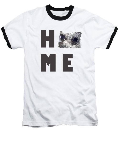 Baseball T-Shirt featuring the digital art Oregon State Map by Marlene Watson