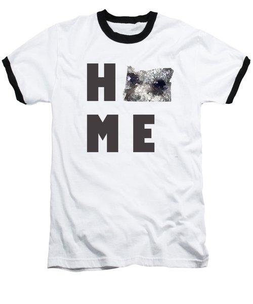 Oregon State Map Baseball T-Shirt