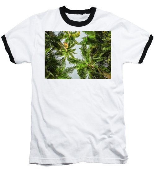 Palm Trees And Blue Sky Baseball T-Shirt