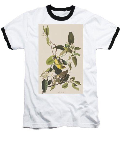 Palm Warbler Baseball T-Shirt by John James Audubon