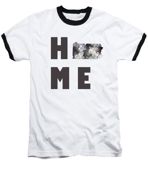 Baseball T-Shirt featuring the digital art Pennsylvania State Map by Marlene Watson