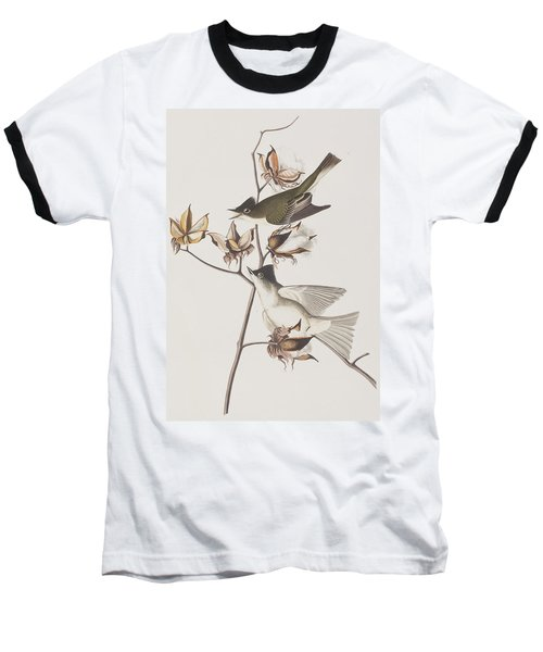 Pewit Flycatcher Baseball T-Shirt by John James Audubon