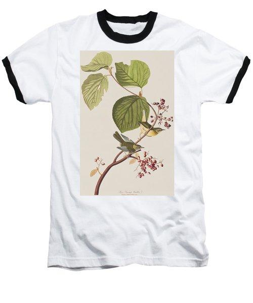 Pine Swamp Warbler Baseball T-Shirt by John James Audubon