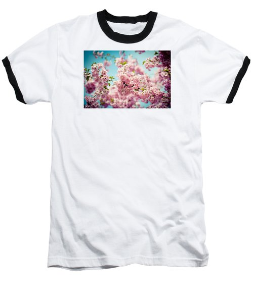 Pink Cherry Blossoms Sakura Baseball T-Shirt