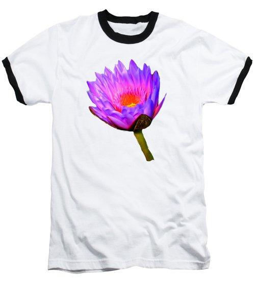 Pink Water Lily Baseball T-Shirt by Pamela Walton