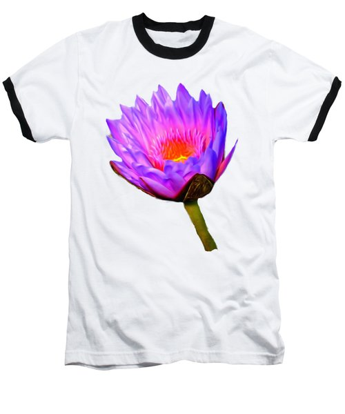 Pink Water Lily Baseball T-Shirt