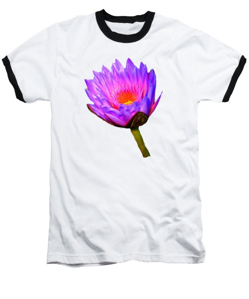 Pink Water Lily Baseball T-Shirt