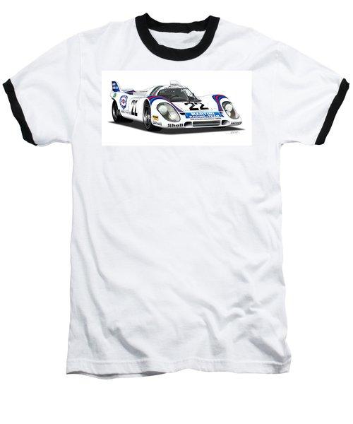 Porsche 917 Illustration Baseball T-Shirt by Alain Jamar