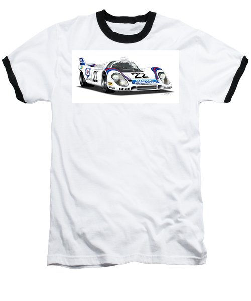 Porsche 917 Illustration Baseball T-Shirt