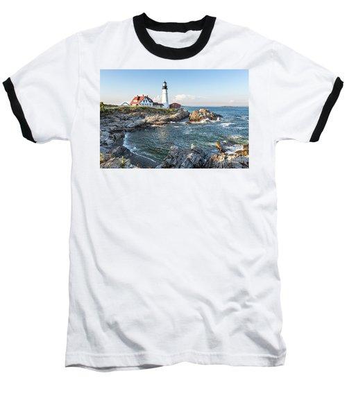 Portland Head Lighthouse Baseball T-Shirt