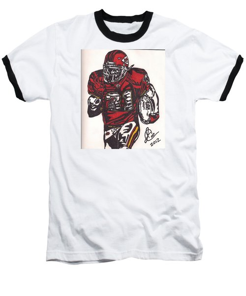 Baseball T-Shirt featuring the drawing Priest Holmes 2 by Jeremiah Colley