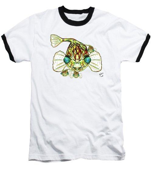 Puffer Fish Baseball T-Shirt by W Gilroy