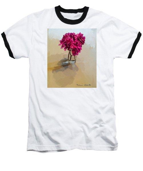 Purple Dahlias Baseball T-Shirt