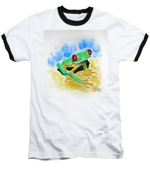 Red Eyed Tree Frog Baseball T-Shirt