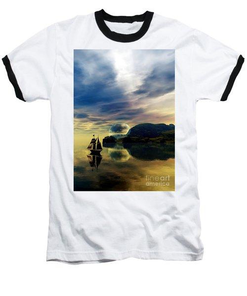 Baseball T-Shirt featuring the digital art Reflection Bay by Sandra Bauser Digital Art