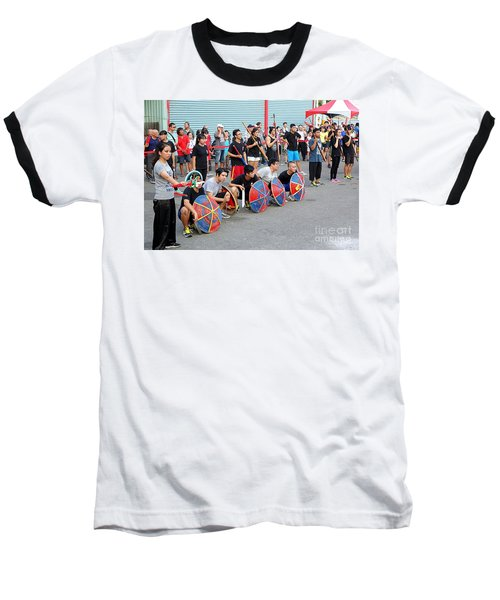 Religious Martial Arts Performance In Taiwan Baseball T-Shirt by Yali Shi