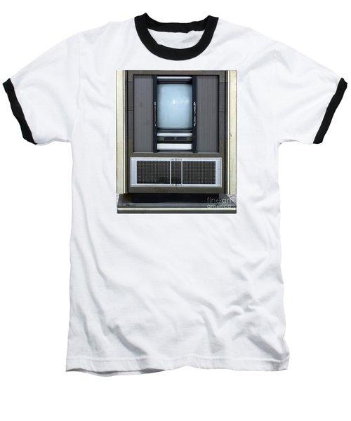 Retro Style Television Set Baseball T-Shirt