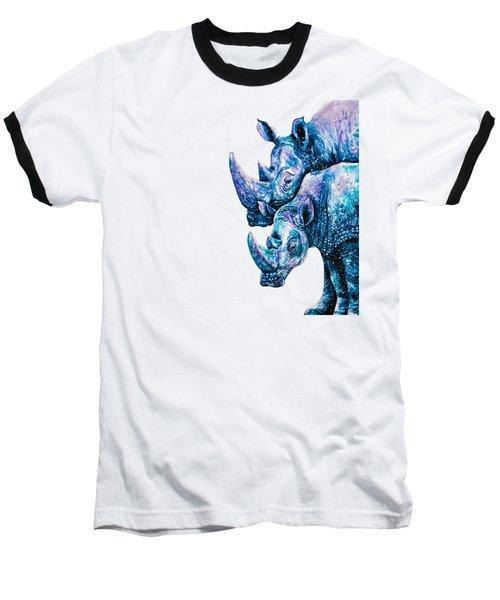 Rhinoceros Couple Baseball T-Shirt