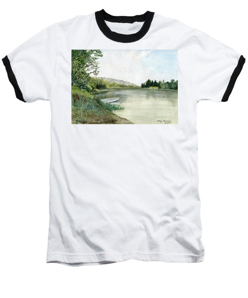 Baseball T-Shirt featuring the painting River Light by Melly Terpening