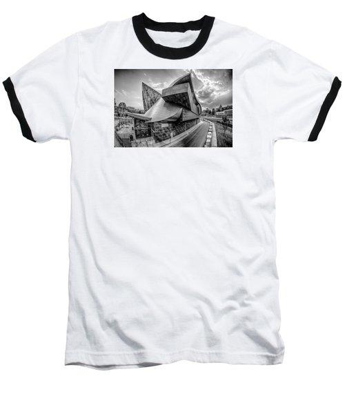 Roanoke Virginia City Skyline In The Mountain Valley Of Appalach Baseball T-Shirt by Alex Grichenko