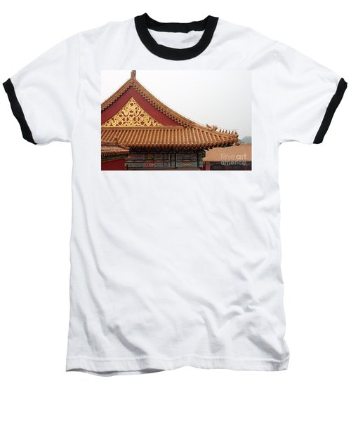 Roof Forbidden City Beijing China Baseball T-Shirt