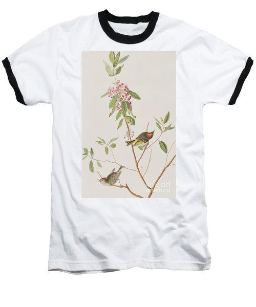 Ruby Crowned Wren Baseball T-Shirt by John James Audubon