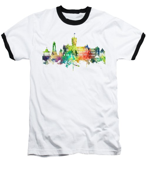 Rutherglen Scotland Skyline Baseball T-Shirt